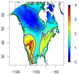Quantifying spatial uncertainty of climate change projections